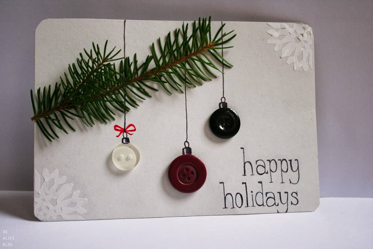 Tree branches with button ornaments