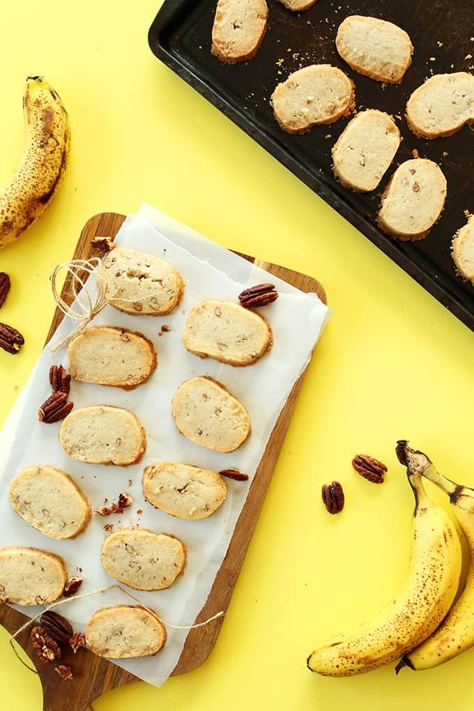 Vegan, glutten free, butter free banana pecan shortbread