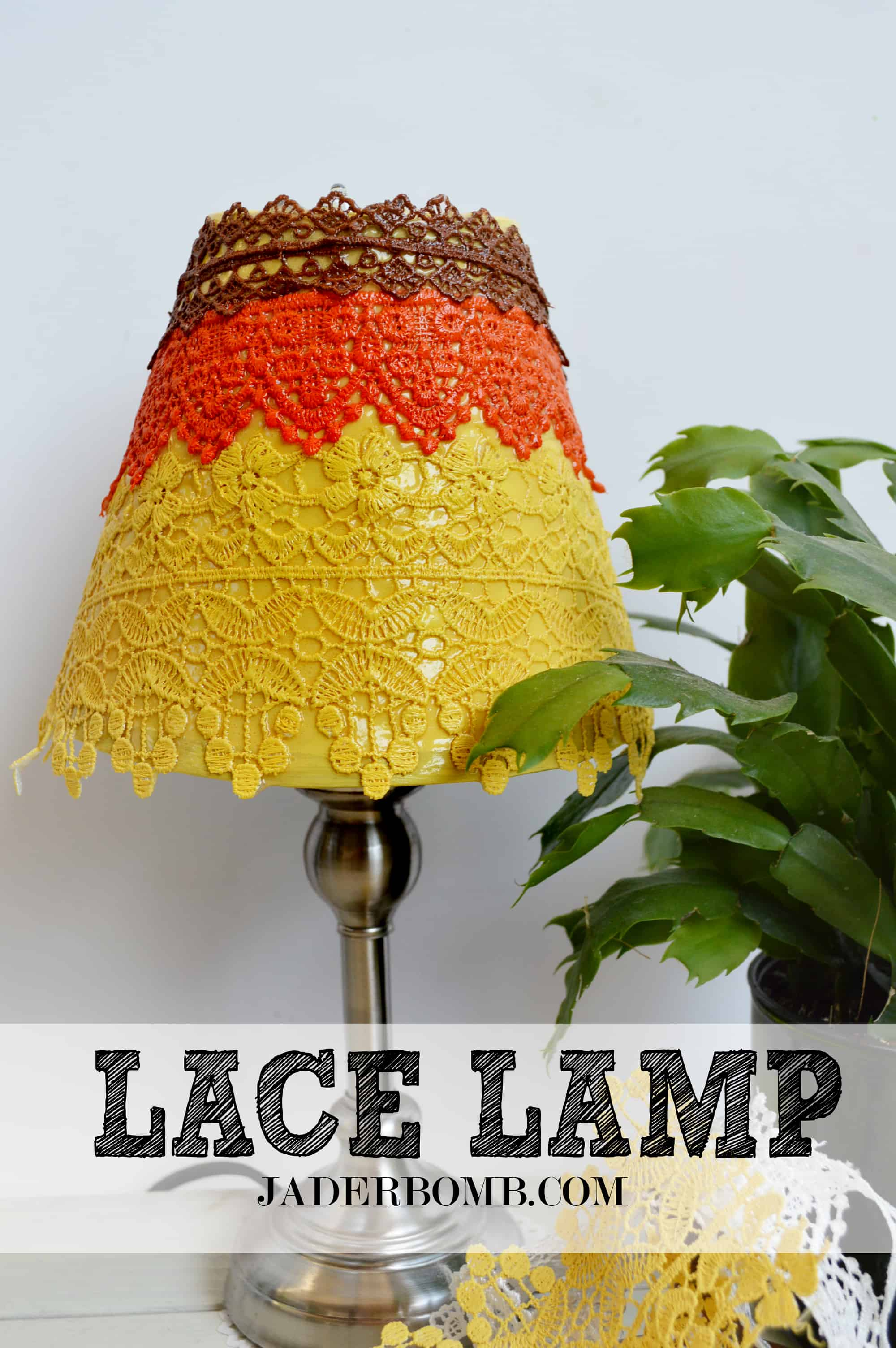 Vintage inspired lace lamp