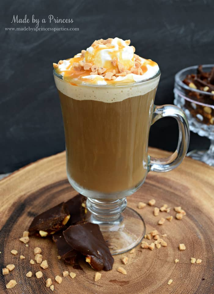 Copycat creme brulee latte recipe with real toffee bits