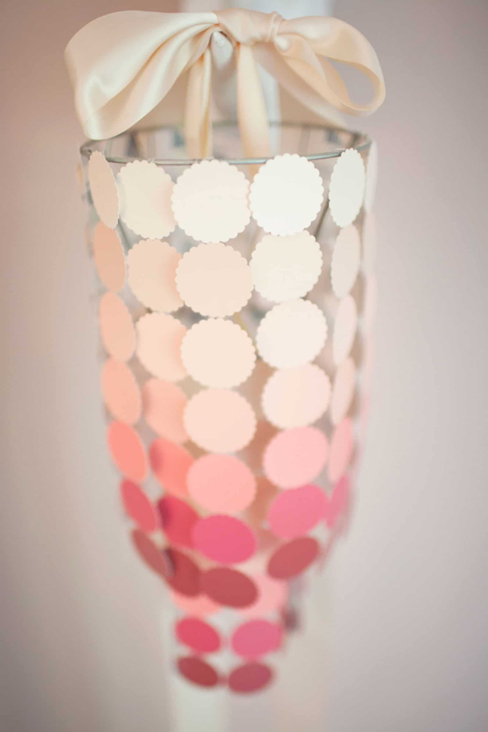 Diy chandelier made of paint chips