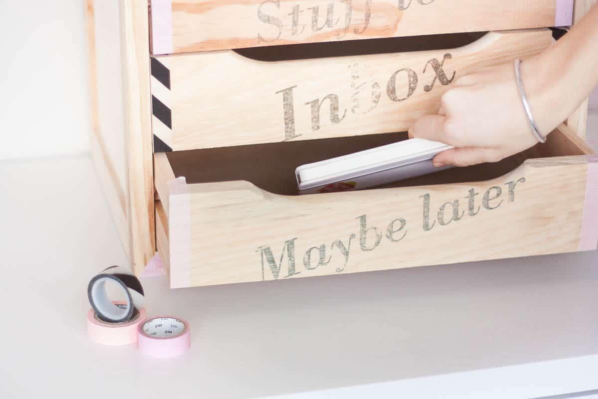 Diy declutter desk drawer makeover set1
