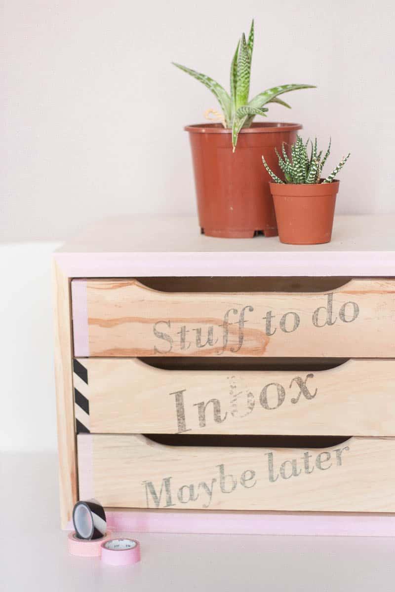 Diy declutter desk drawer makeover set2