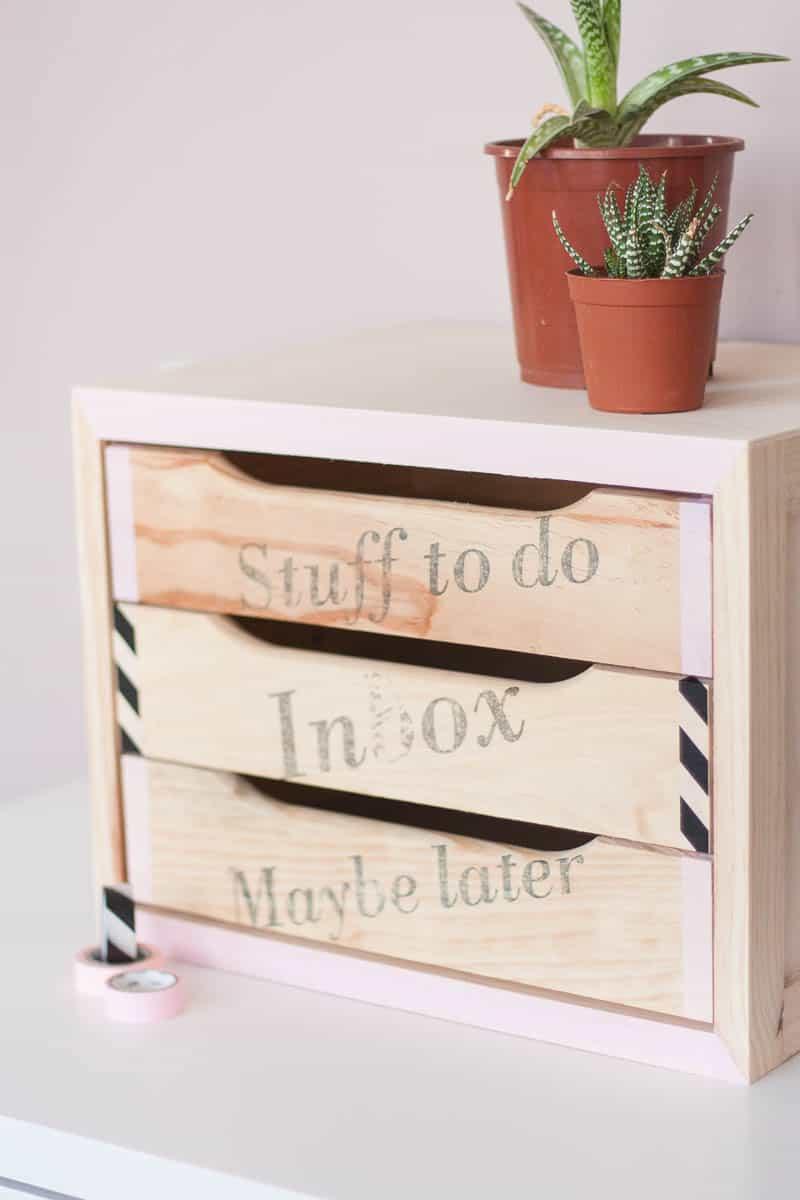 Diy declutter desk drawer makeover set5