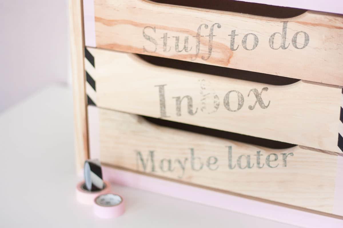 Diy declutter desk drawer makeover set6