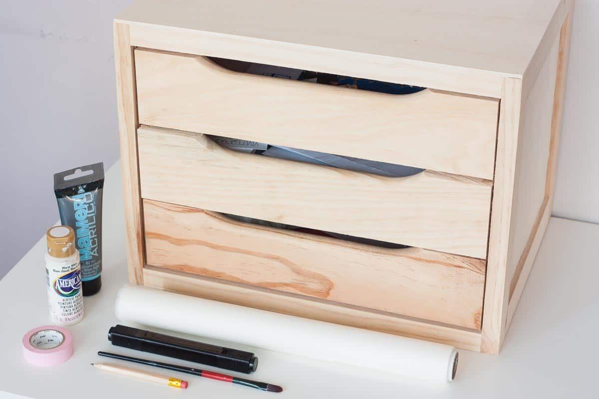 Diy declutter desk drawer makeover supplies