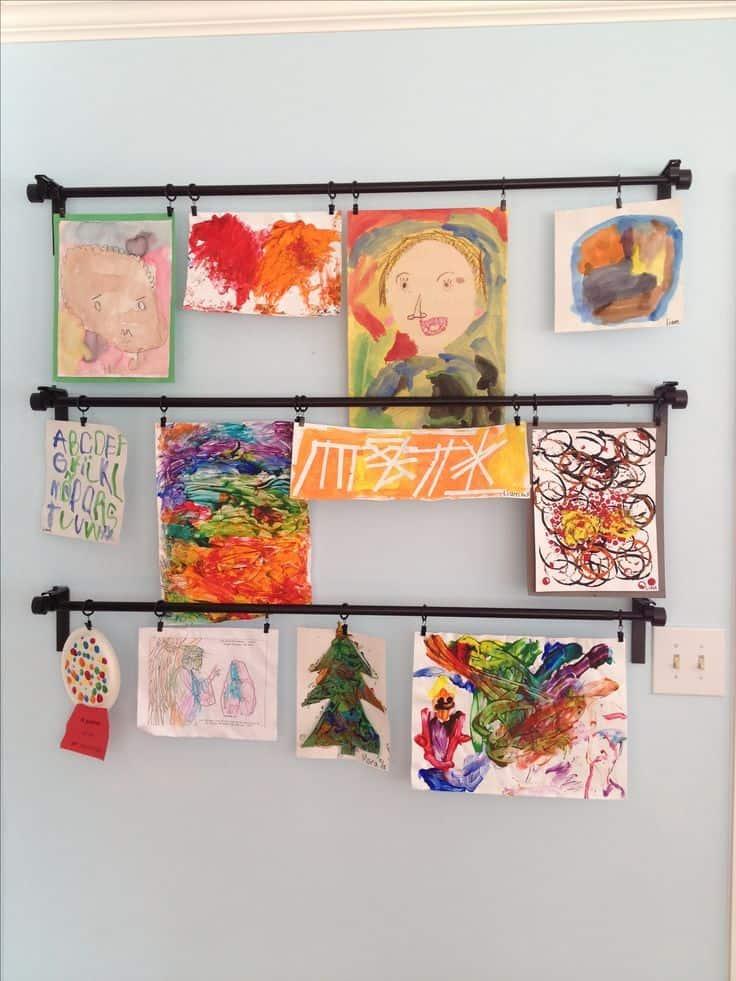Diy hanger art for entryway