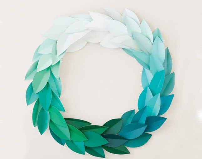 Diy paint chip wreath