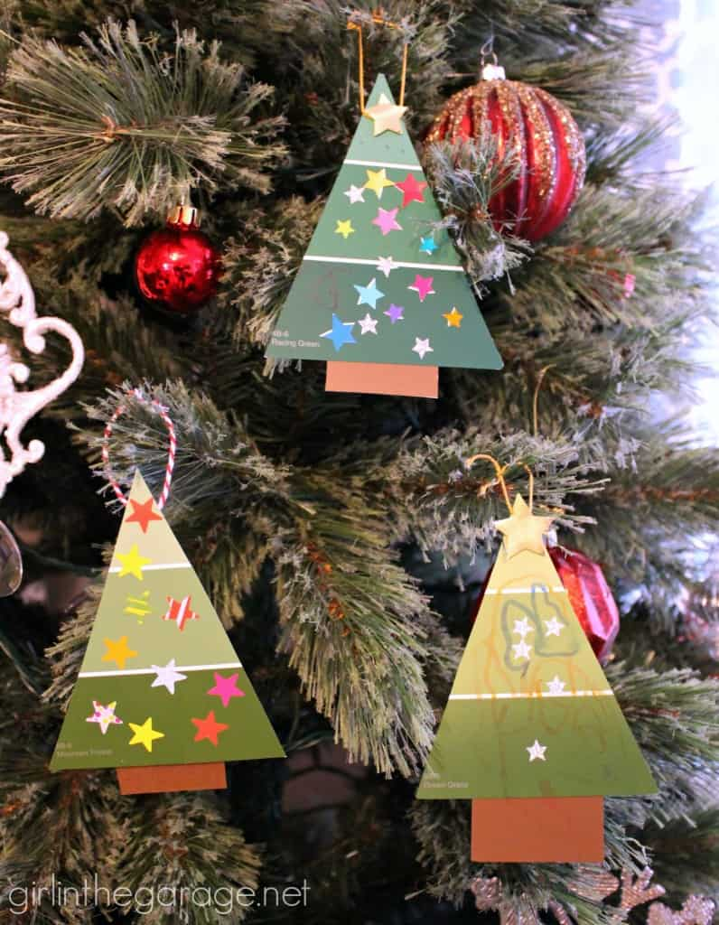 Diy paint chipo tree ornaments
