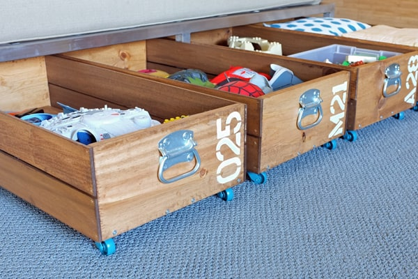 Diy rolling storage crate