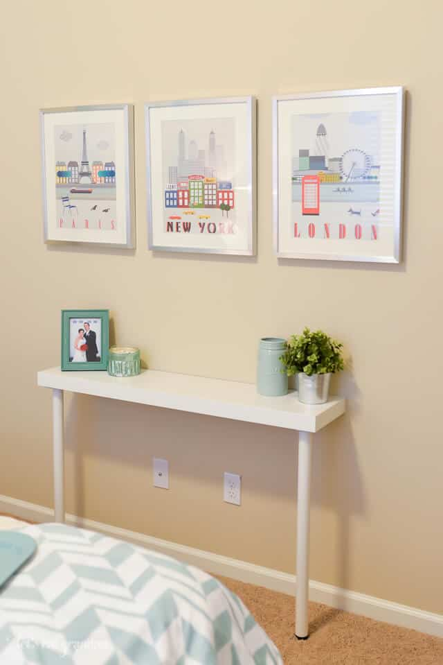 Diy wall console table