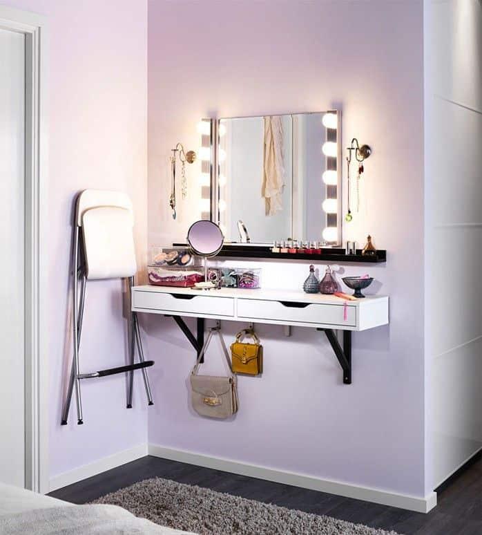 Diy wall vanity setup