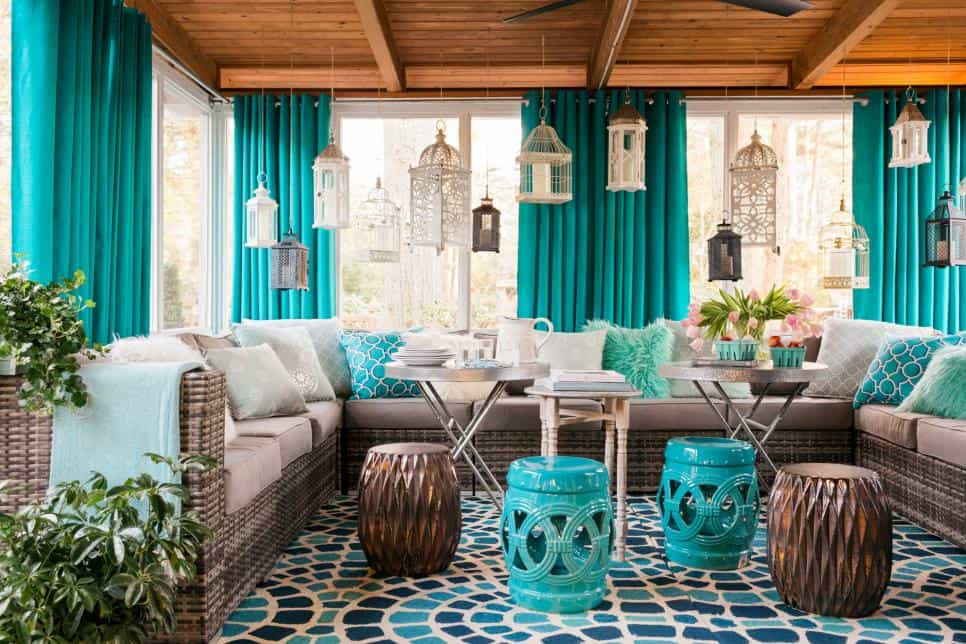 Extra lanterns screened in porch ideas