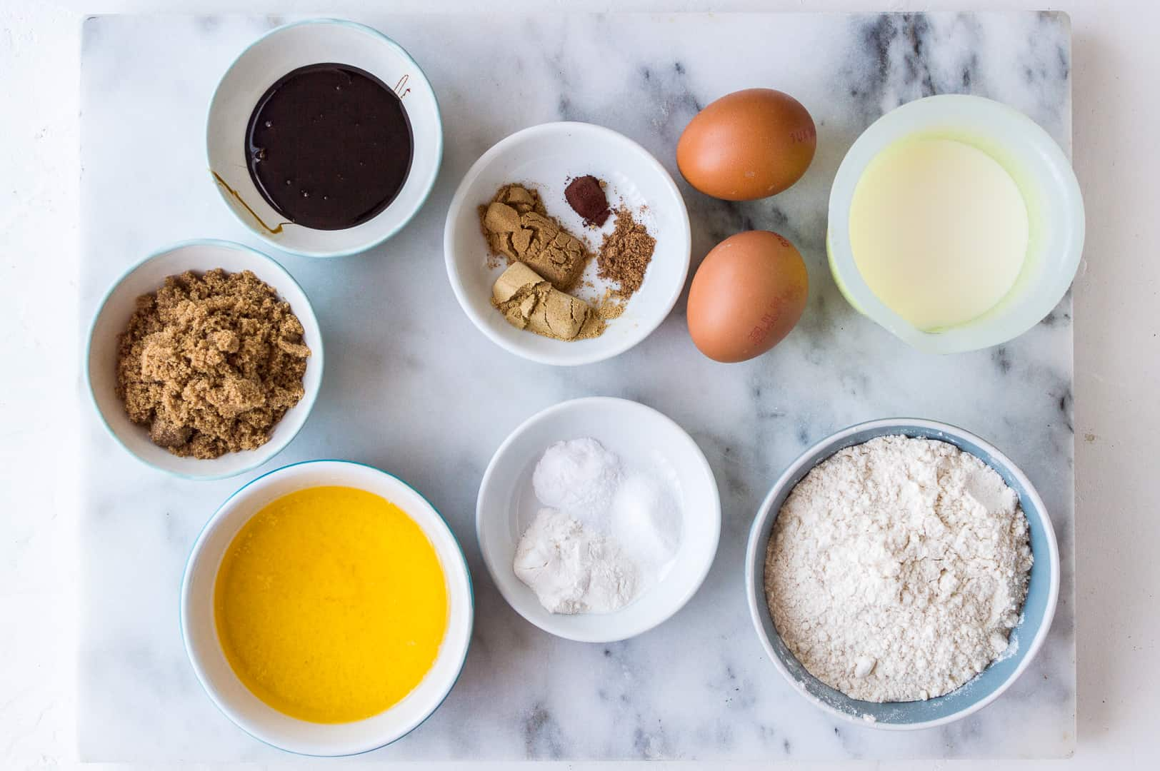 Gingerbread pancake ingredients
