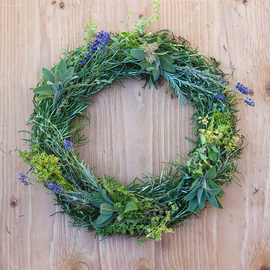 Herb wreath diy