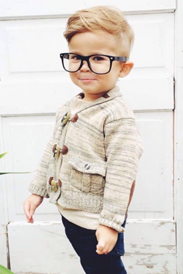 Hipster haircut for little boys