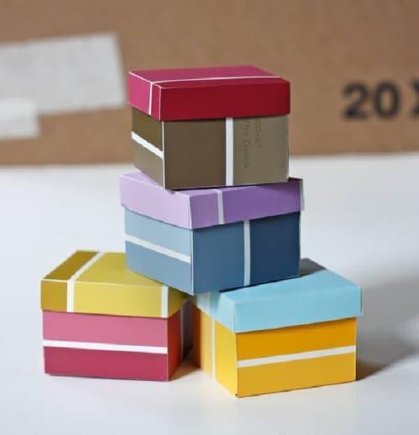 Paint chip box diy