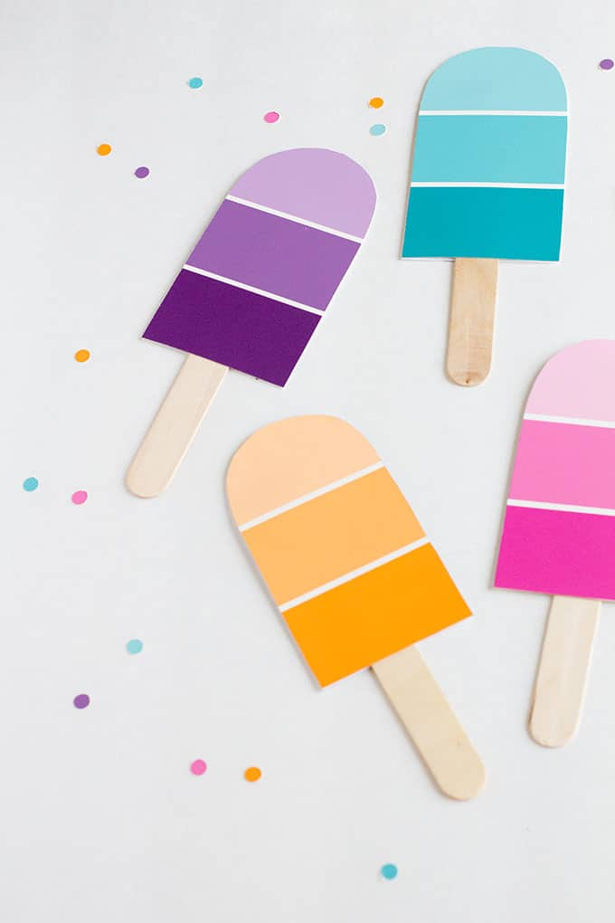 Popsicle summer party invitations diy