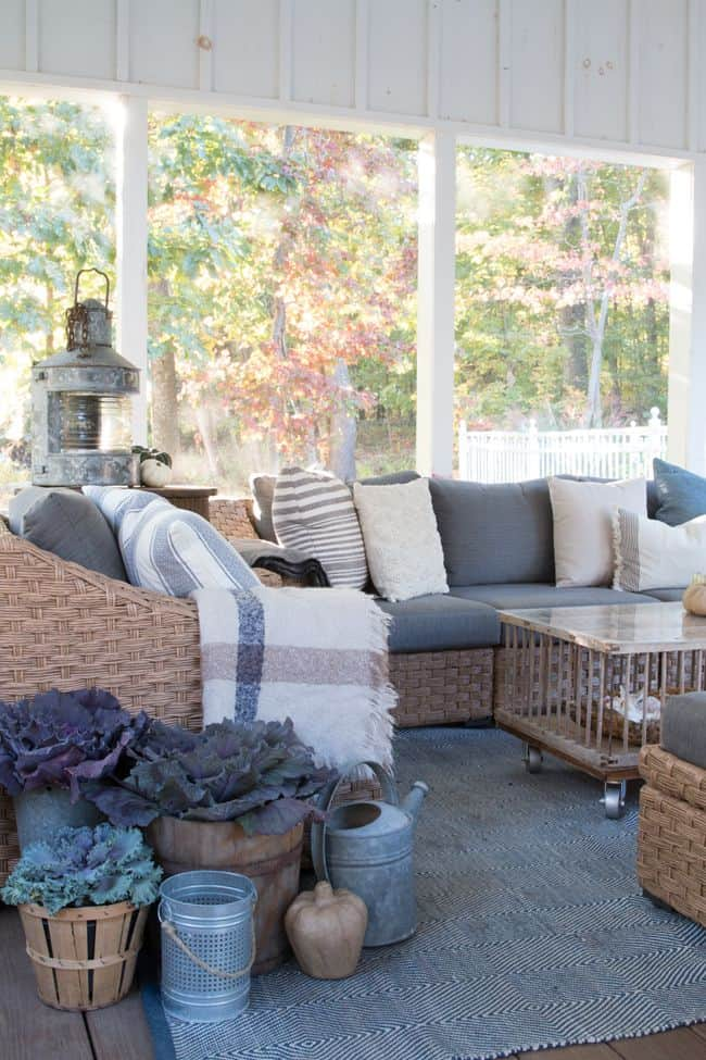 Rustic screened in porch concept