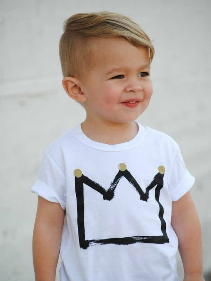Skater inspired little boy haircut