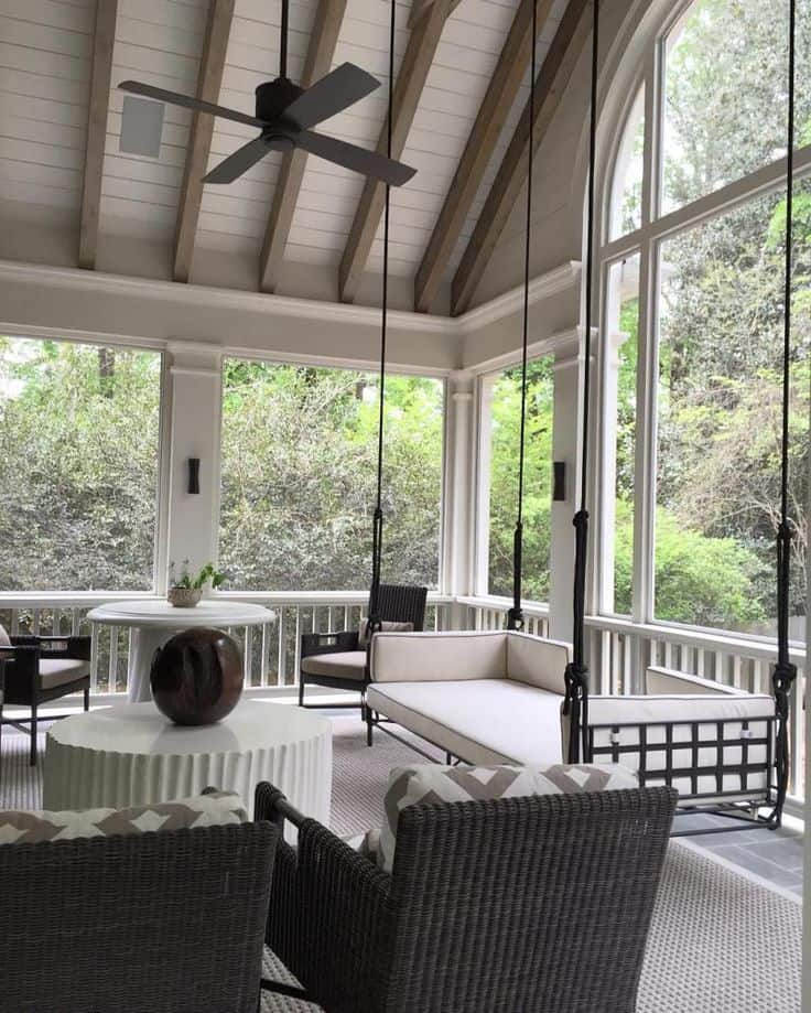 Ultra modern screened porch