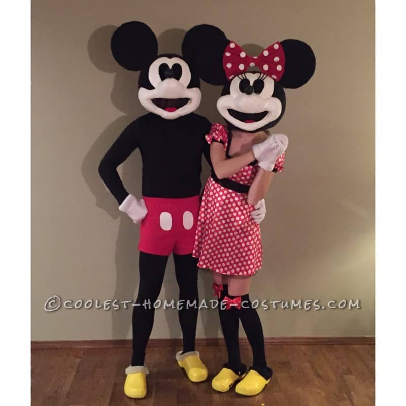 Adult vintage minnie and mickey costumes