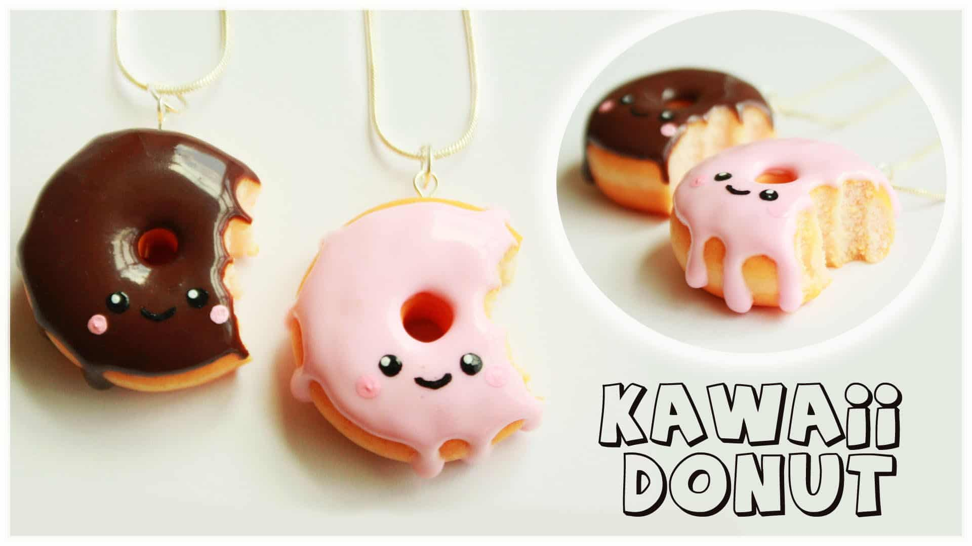 Bitten kawaii donut charms