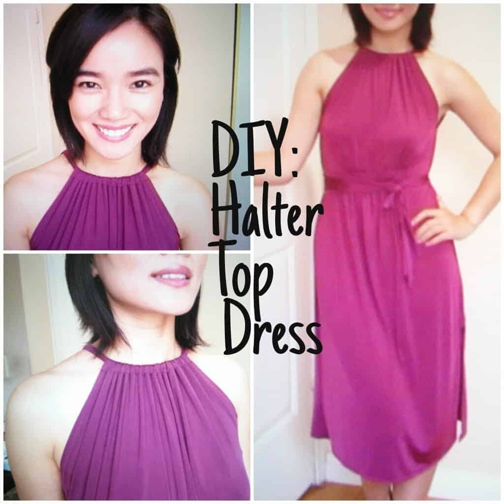 Diy halter top dress