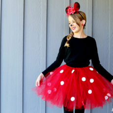 Diy spotted minnie mouse tutu