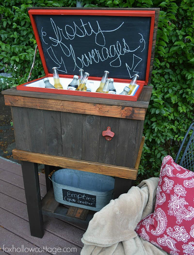 Diy wooden deck cooler