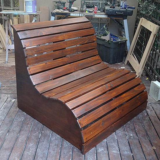 Diy wooden love seat