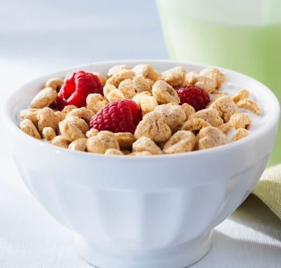 Easy raspberry cereal