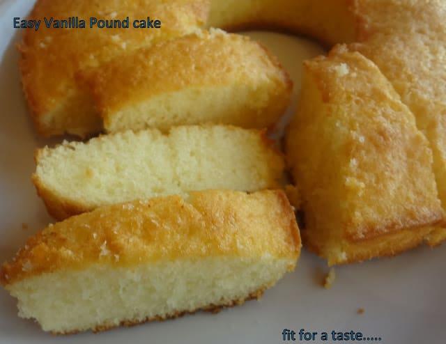 Easy vanilla pound cake