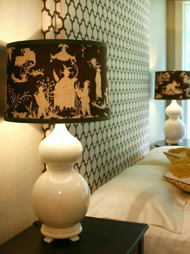 Cute diy lampshades fabric lamp shade cover with a ribbon edging aloadofball Choice Image