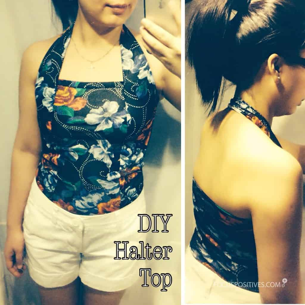 Floral patterned halter with thick straps