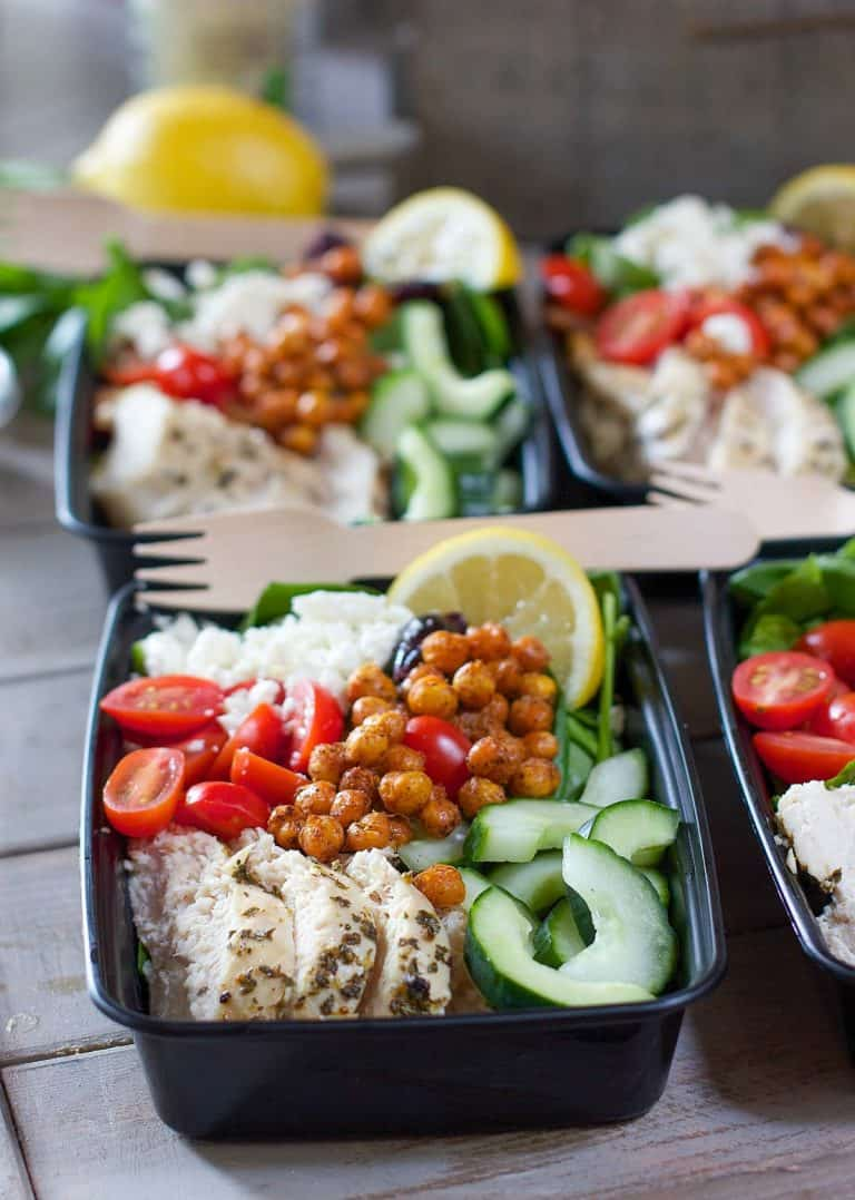 Greek salad meal prep