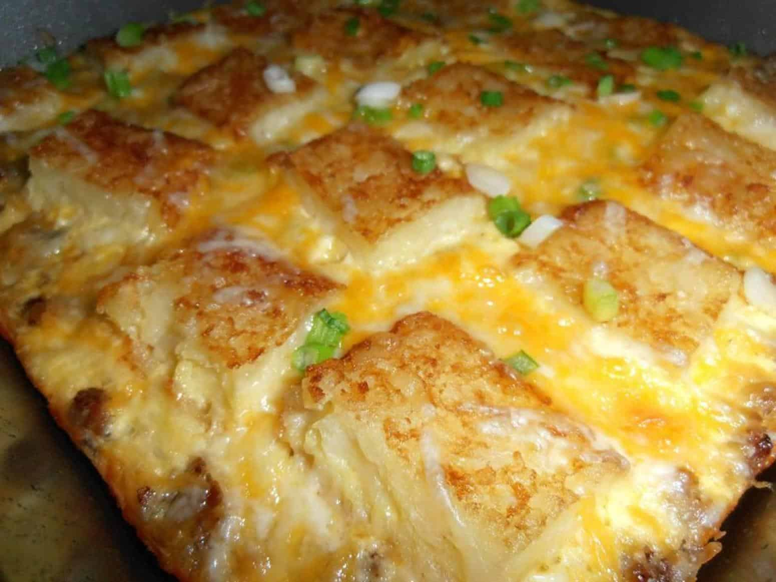 Hashbrown, egg, and cheese breakfast casserole