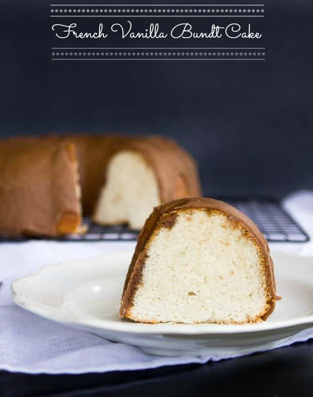 Homemade french vanilla bundt cake