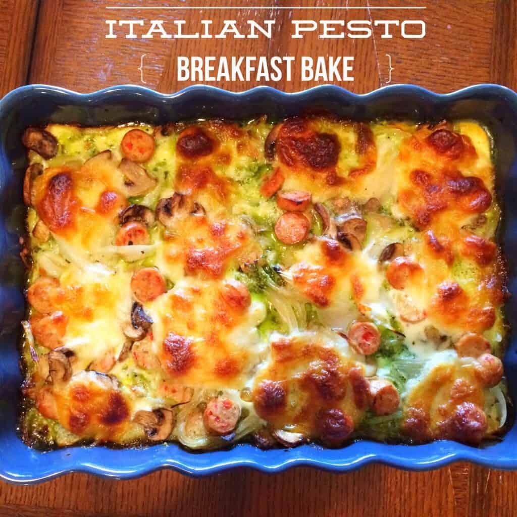 Italian pesto breakfast bake