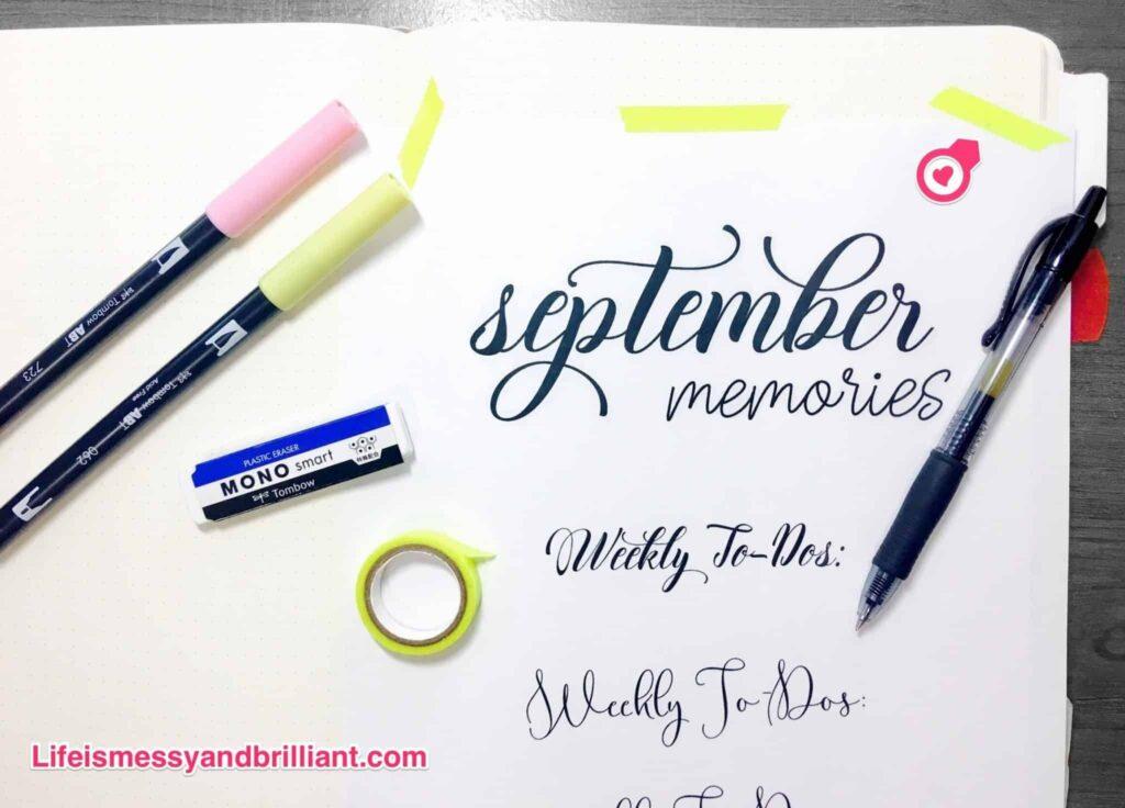 Journaling font