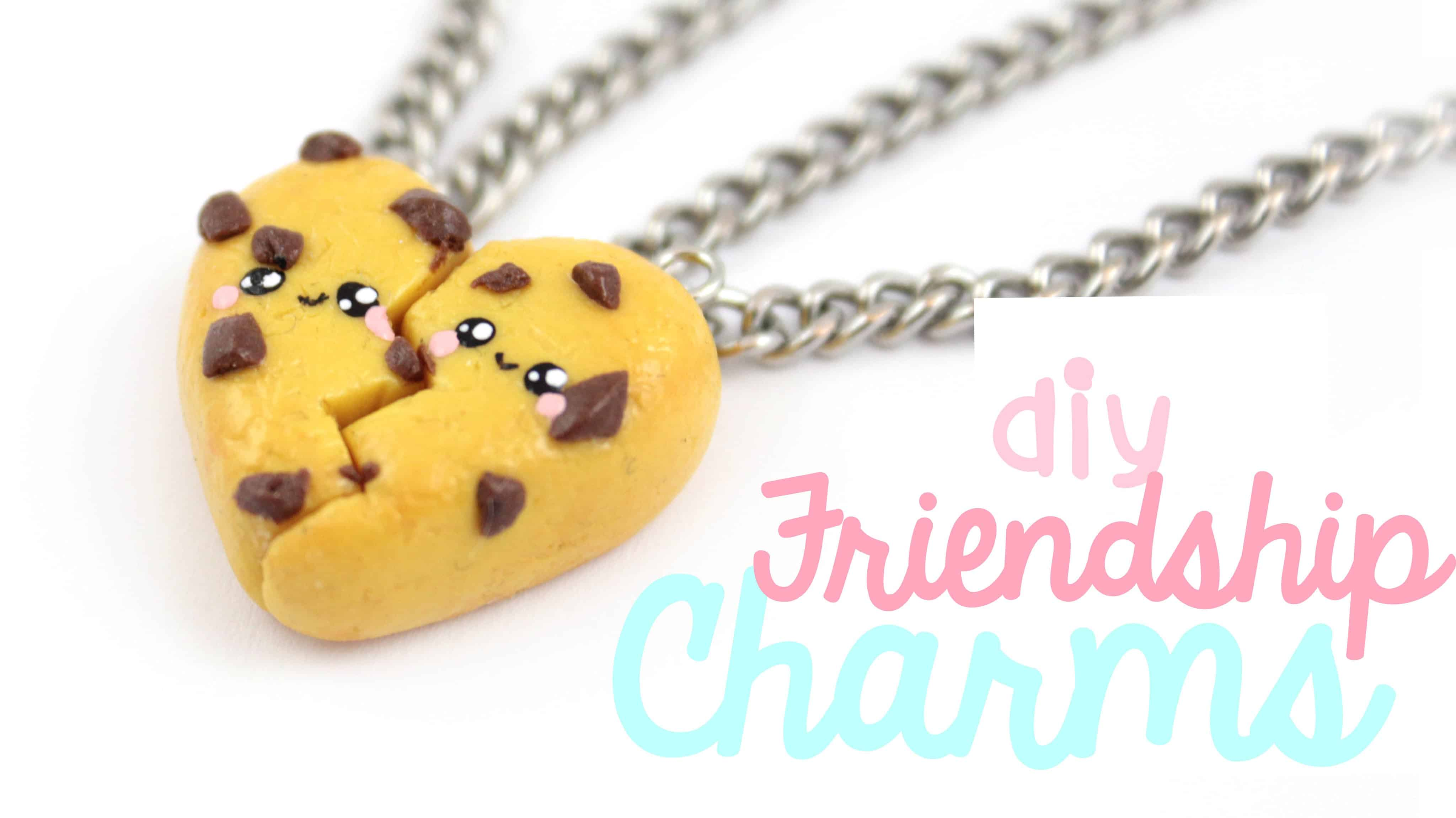 Kawaii chocolate chip cookie friendship charms