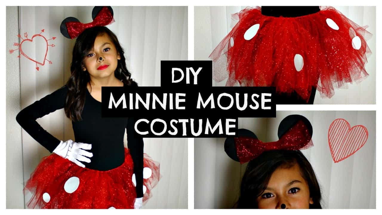 Kid's sparkly minnie mouse costume