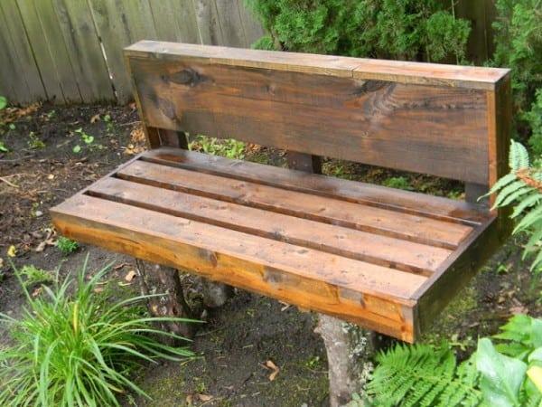 Log leg bench