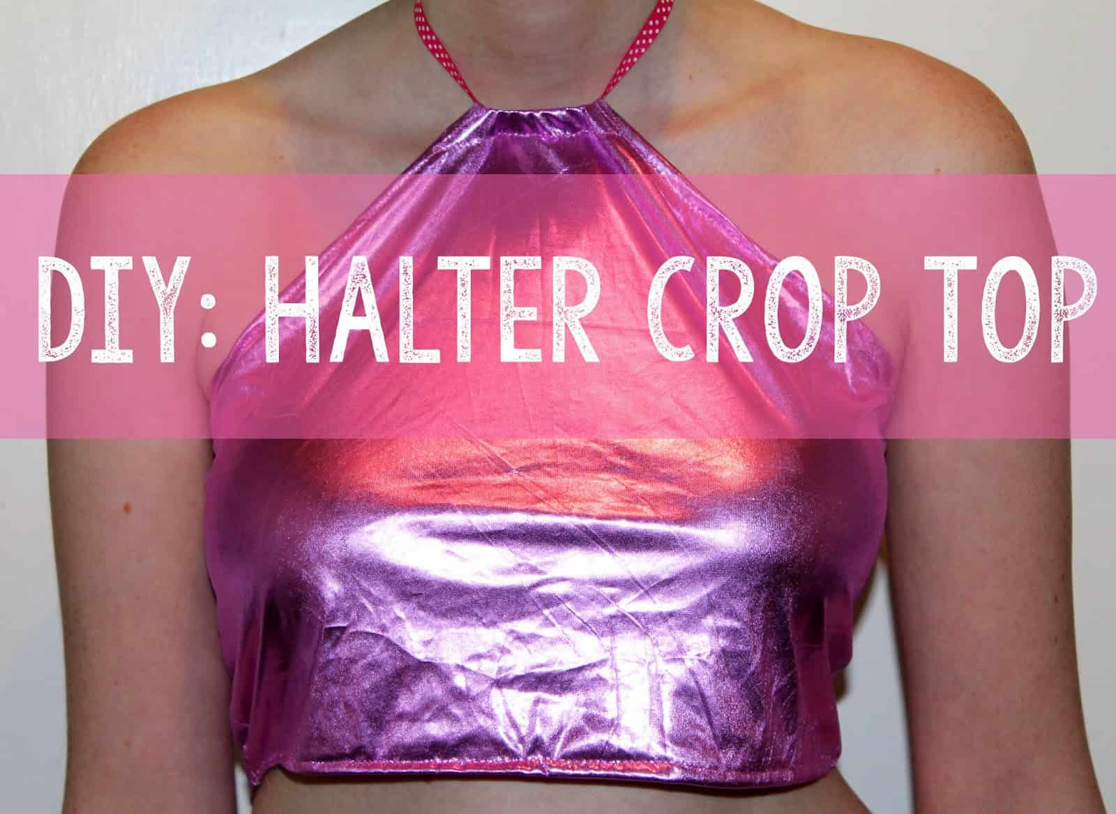Metallic and ribbon crop halter