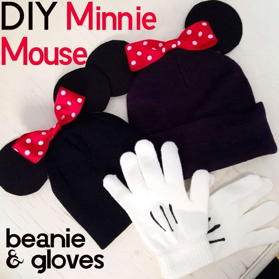Micket and minnie beanies and gloves