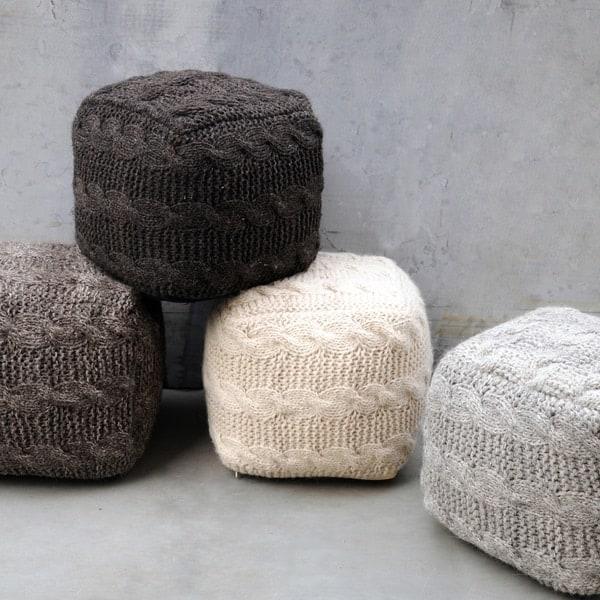 Oslo fabric pouf