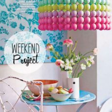 Painted ping pong ball pendant light