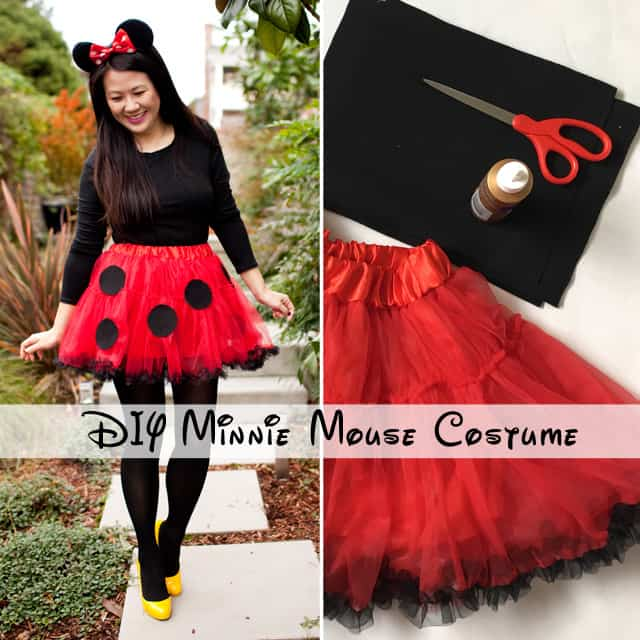 Pre made tutu and paper circle minnie