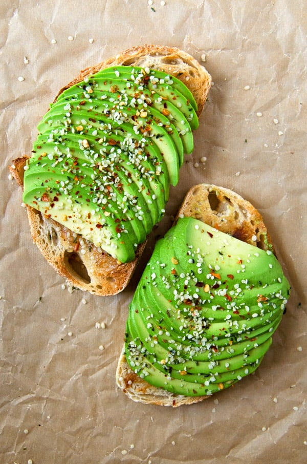 Roasted garlic avocado toast