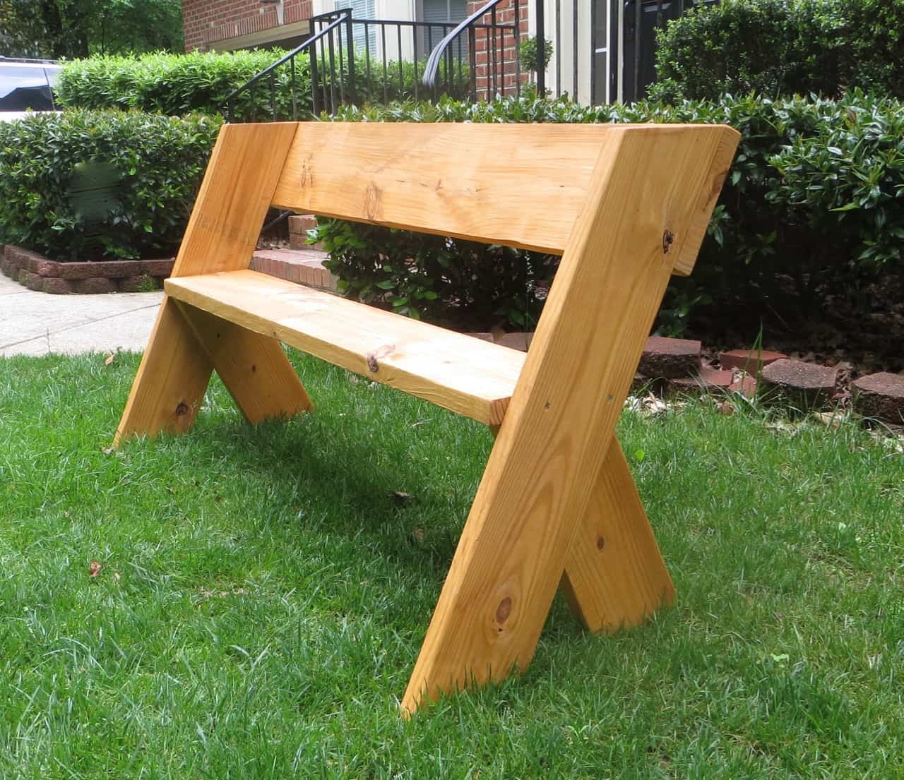 Simple Wooden Bench Designs ~ Diy outdoor wood projects